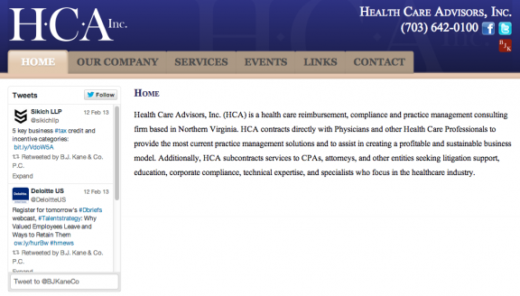 Health Care Advisors, Inc.