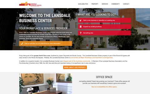 Website Design for The Lansdale Business Center