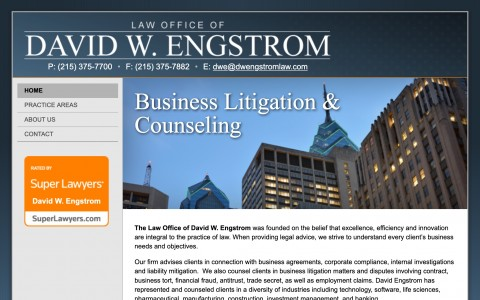 Website Design for Law Offices of David Engstrom