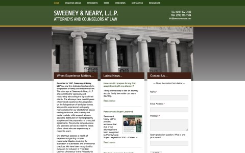 Website Design for Sweeney Neary LLP